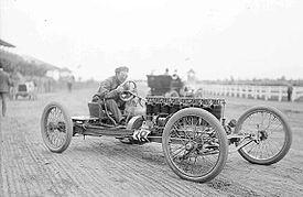 Motorsports Photos - Carl Fisher - Fisher at the Harlem racetrack
