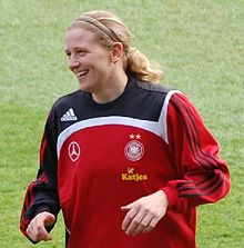Soccer Photos - Germany Women's National Football Team - Kerstin Stegemann is the second most capped player for Germany