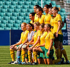 Soccer Photos - Australia Women's National Association Football Team - Matildas before a game against Italy in 2009