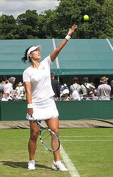 Tennis Photos - Li Na (Tennis) - Li Na at the 2008 Wimbledon Championships.