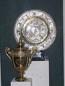 Tennis Photos - Wimbledon Championships - The Ladies' (top) and Gentlemen's singles trophies