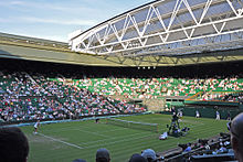 Tennis Photos - Wimbledon Championships - Centre Court with open roof at the 2010 Championships