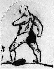 Boxing Photos - Jack Broughton - A drawing of Jack Broughton by George Townshend.