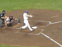 Baseball Photos - Daniel Murphy (Baseball) - Daniel Murphy at bat during a game at Citi Field
