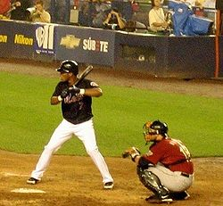 Baseball Photos - Jose Reyes (Shortstop) - Reyes at bat in July 2006 against the Houston Astros