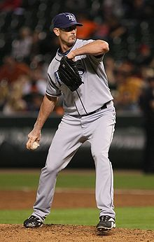 Baseball Photos - Grant Balfour - Balfour pitching for the Tampa Bay Rays on September 22