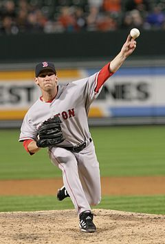 Baseball Photos - Craig Breslow - Breslow pitching for the Red Sox in 2006.