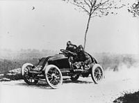 Motorsports Photos - Grand_Prix_Motor_Racing - Marcel Renault during the 1903 Paris Madrid trial.