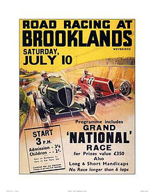 Motorsports Photos - Grand_Prix_Motor_Racing - Brooklands was the first ever oval style race track built for cars.
