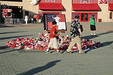 Baseball Photos - Nick Adenhart - Makeshift shrine outside the home plate gates to Angel Stadium.