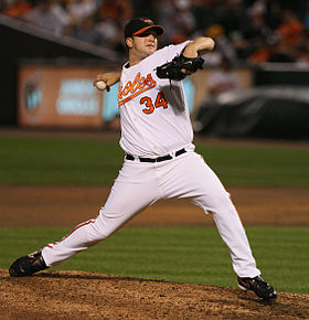 Baseball Photos - Matt Albers - Albers pitching for the Baltimore Orioles in 2009.