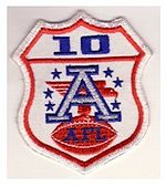 Football Photos - 1970 SUPER BOWL IV - Ten-year AFL patch worn by the Chiefs in Super Bowl IV.