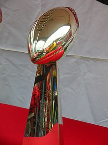 Football Photos - 1990 SUPER BOWL XXIV - The Vince Lombardi Trophy for Super Bowl XXIV.
