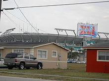 Football Photos - 2007 SUPER BOWL XLI - Dolphin Stadium prepares for Super Bowl XLI
