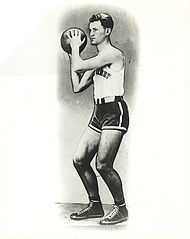 College Basketball Photos - 1935 NCAA Men's Basketball All-Americans - Glen Roberts was a Helms Foundation All-America selection at Emory and Henry.
