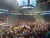 Basketball Photos - 2008 NBA Finals Men's Basketball - Boston Celtics fans