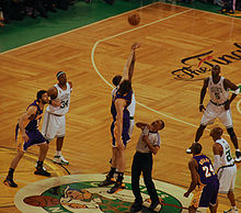 Basketball Photos - 2008 NBA Finals Men's Basketball - The opening tipoff of Game 2