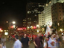Hockey Photos - 2007 Stanley Cup Finals - Elgin Street after the Senators game three win.