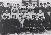 Hockey Photos - 1907 ECAHA Season - Wanderers players and team officials in Winnipeg for challenge