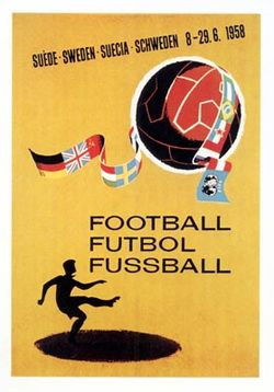 Soccer Photos - 1958 FIFA World Cup - The official 1958 FIFA World Cup poster.