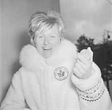 Olympics Photos - 1960 Winter Olympics - Ann Heggtveit with her Olympic gold medal in the slalom