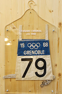 Olympics Photos - 1968 Winter Olympics - Bib used during the games