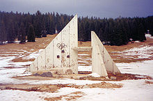Olympics Photos - 1984 Winter Olympics - Damaged Olympic Symbol as a result of Bosnian War