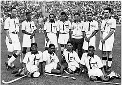 Olympics Photos - 1936 Field Hockey Summer Olympics - India's field hockey team