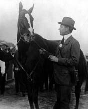 Horse Racing Photos - 1915 KentuckyDerby - Regret and trainer James Rowe