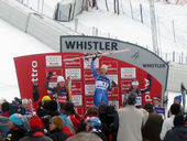 Sports Photos - 2008 Alpine Skiing World Cup - This is the podium from the 2008 Whistler Downhill