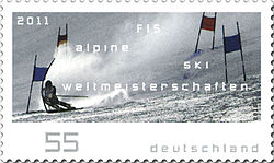 Sports Photos - 2011 FIS Alpine World Ski Championships - German postage stamp