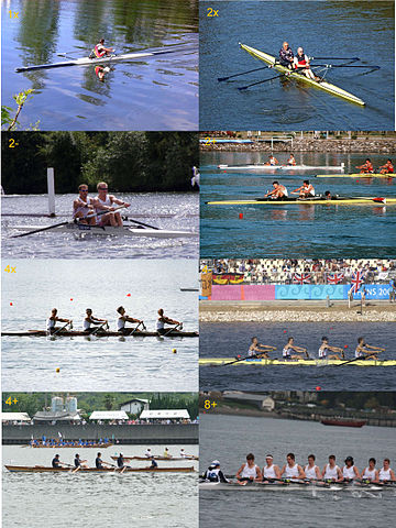 Olympics Photos - Rowing - All eight types of racing boats