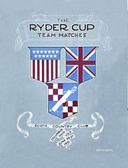 Golf Photos - 1931 Ryder Cup - 1931 Ryder Cup Cover