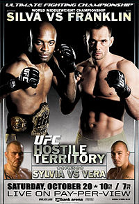 Sports Photos - 2007 UFC 77: Hostile Territory - A poster or logo for UFC 77: Hostile Territory.