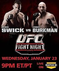 Sports Photos - 2008 UFC Fight Night: Swick Vs Burkman - A poster or logo for UFC Fight Night: Swick vs Burkman.