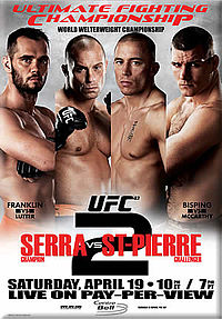 Sports Photos - 2008 UFC 83 Serra Vs St-Pierre 2 - A poster or logo for UFC 83: Serra vs St-Pierre 2.