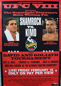 Sports Photos - 1996 UFC 8 David Vs. Goliath - A poster or logo for UFC 8: David vs. Goliath.