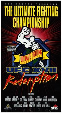 Sports Photos - 1998 UFC 17 Redemption - A poster or logo for UFC 17: Redemption.
