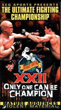Sports Photos - 1999 UFC 22 Only One Can Be Champion - A poster or logo for UFC 22: Only One Can be Champion.