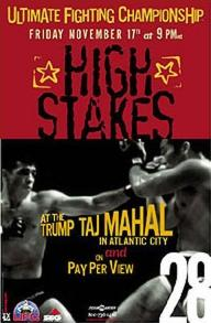 Sports Photos - 2000 UFC 28 High Stakes - A poster or logo for UFC 28: High Stakes.