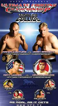 Sports Photos - 2002 UFC 36 Worlds Collide - A poster or logo for UFC 36: Worlds Collide.