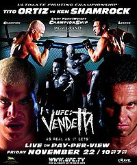 Sports Photos - 2002 UFC 40 Vendetta - A poster or logo for UFC 40: Vendetta.