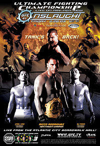 Sports Photos - 2003 UFC 41 Onslaught - A poster or logo for UFC 41: Onslaught.