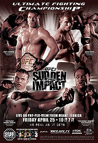 Sports Photos - 2003 UFC 42 Sudden Impact - A poster or logo for UFC 42: Sudden Impact.