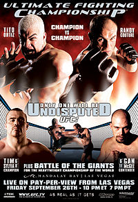 Sports Photos - 2003 UFC 44 Undisputed - A poster or logo for UFC 44: Undisputed.