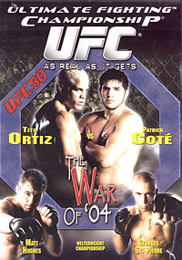 Sports Photos - 2004 UFC 50 The War Of '04 - A poster or logo for UFC 50: The War of '04.