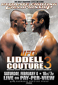 Sports Photos - 2006 UFC 57 Liddell Vs. Couture 3 - A poster or logo for UFC 57: Liddell vs. Couture 3.
