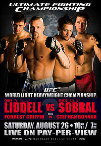 Sports Photos - 2006 UFC 62 Liddell Vs. Sobrai - A poster or logo for UFC 62: Liddell vs. Sobral.