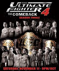 Sports Photos - 2006 The Ultimate Fighter 4 Finale - A poster or logo for The Ultimate Fighter 4 Finale.