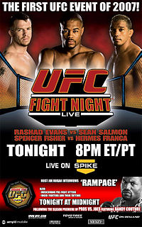 Sports Photos - 2007 UFC Fight Night: Evans Vs Salmon - A poster or logo for UFC Fight Night: Rashad Evans vs Sean Salmon.